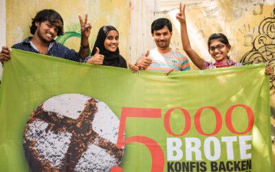 5000 Brote: Gepudertes Logo
